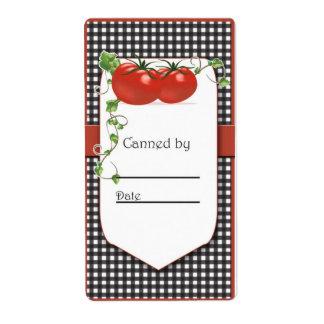 トマトの缶詰になる瓶のラベル ラベル