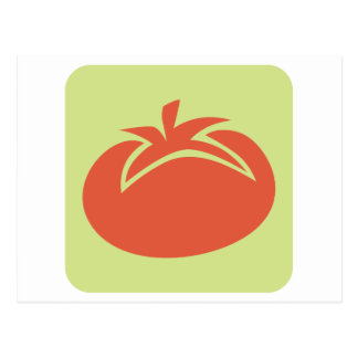 トマトの野菜アイコン ポストカード