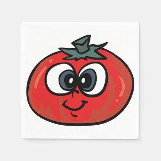 トマトの顔の紙ナプキン スタンダードカクテルナプキン