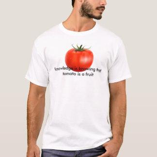 トマトは知識です Tシャツ