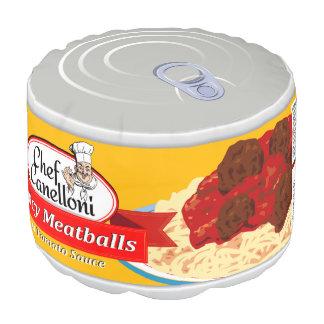 トマトソースのおもしろいな缶詰にされたミートボール、 プーフ