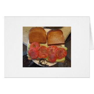 トマト及びきゅうりサンドイッチ カード