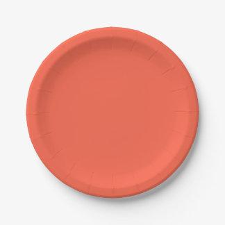 トマト色の紙皿 ペーパープレート
