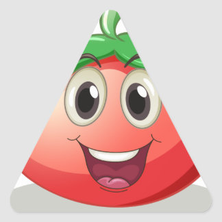 トマト 三角形シール