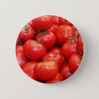 トマト 5.7CM 丸型バッジ