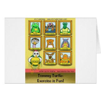 トミーのカメ: エクササイズはおもしろいです!  裏表紙 カード