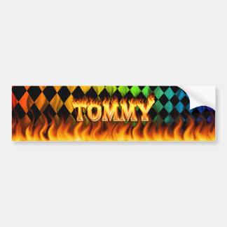 トミーの実質火および炎のバンパーステッカーは設計します バンパーステッカー