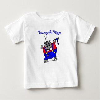 トミーカバのフード付きスウェットシャツ ベビーTシャツ