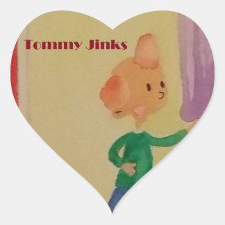 トミー元のJinksの芸術 ハート形シールステッカー