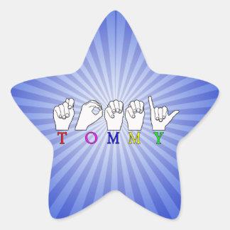 トミーASL FINGERSPELLEDの一流の印 星シール
