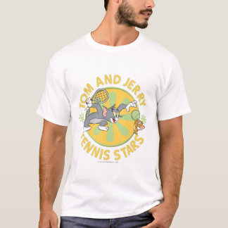 トムとジェリーのテニスのスター5 Tシャツ