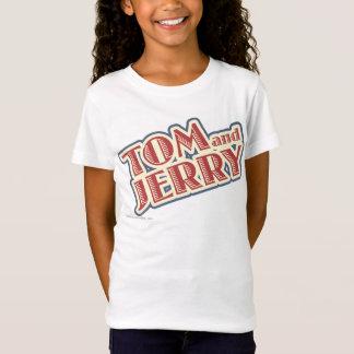 トムとジェリーのロゴ Tシャツ