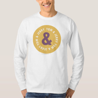 トムとジェリーの円形のロゴ3 Tシャツ