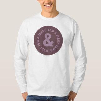 トムとジェリーの円形のロゴ9 Tシャツ