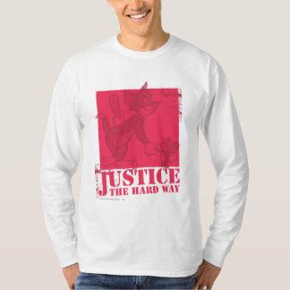 トムとジェリーの正義堅い方法 Tシャツ