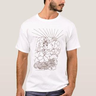 トムとジェリーの輪郭 Tシャツ