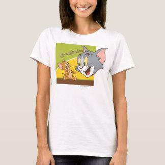 トムとジェリーハナバーベラのロゴ Tシャツ