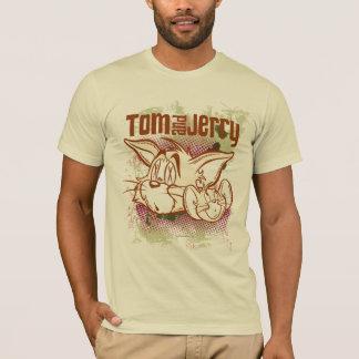 トムとジェリーブラウンおよび緑 Tシャツ