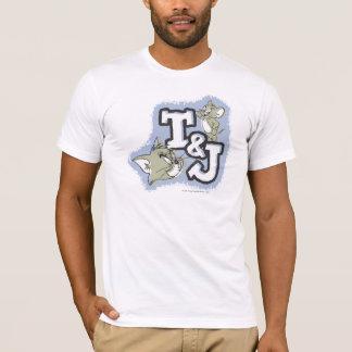トムとジェリーT&Jのロゴ Tシャツ