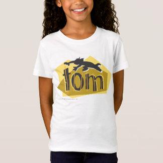 トムのシルエットのロゴ Tシャツ