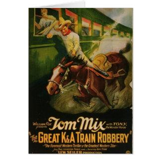 トムの組合せ素晴らしいK&Aの列車の強盗ポスター カード