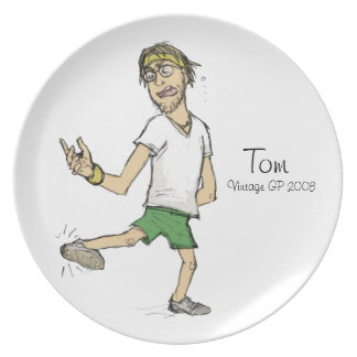 トム私達はちょうど友人のヴィンテージのプレートより多くです プレート