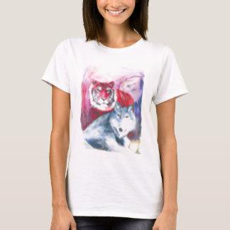 トラかオオカミ Tシャツ