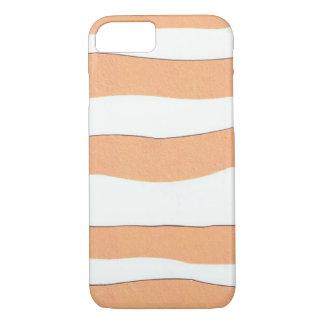 トラが付いているiphoneカバーは縞で飾ります iPhone 8/7ケース