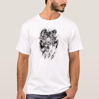 トラが引き裂く体 Tシャツ