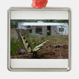 トラのアゲハチョウのオーナメント メタルオーナメント