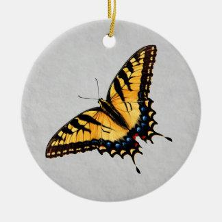 トラのアゲハチョウの蝶オーナメント セラミックオーナメント