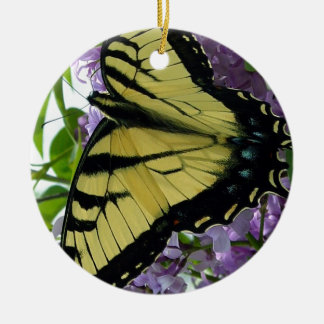 トラのアゲハチョウの蝶薄紫の写真 セラミックオーナメント