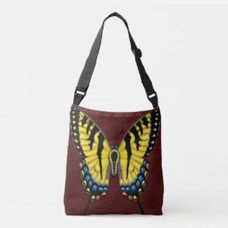 トラのアゲハチョウの蝶 クロスボディトートバッグ