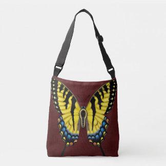 トラのアゲハチョウの蝶 クロスボディバッグ