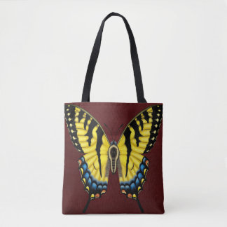 トラのアゲハチョウの蝶 トートバッグ