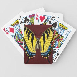 トラのアゲハチョウの蝶 バイスクルトランプ