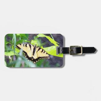 トラのアゲハチョウの蝶 ラゲッジタグ