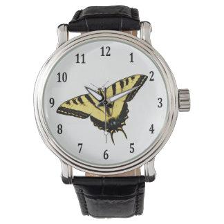 トラのアゲハチョウの蝶 リストウォッチ