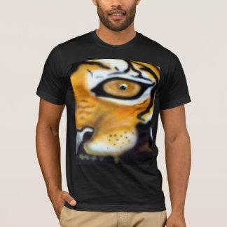 トラのエアブラシ Tシャツ