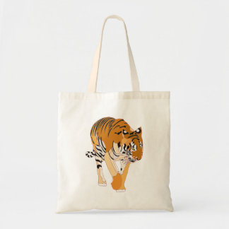 トラのキャンバスのバッグのデジタル絵画 トートバッグ