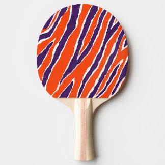 トラのストリップか紫色のオレンジデザイン 卓球ラケット
