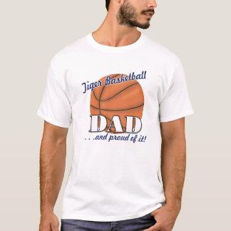 トラのバスケットボールのパパ Tシャツ