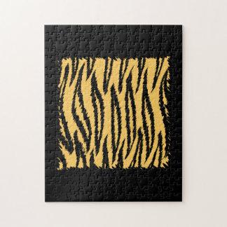 トラのプリントパターン。 オレンジおよび黒 ジグソーパズル