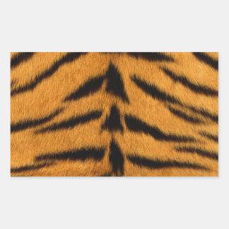 トラのプリント、トラの皮によってすごい自然な野生動物 長方形シール
