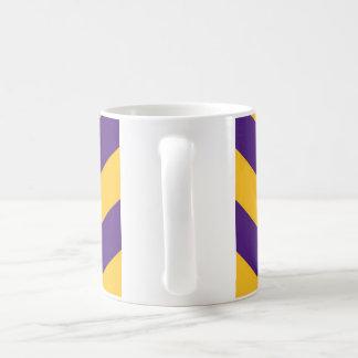 トラのルイジアナの紫色そして金ゴールドの目 コーヒーマグカップ