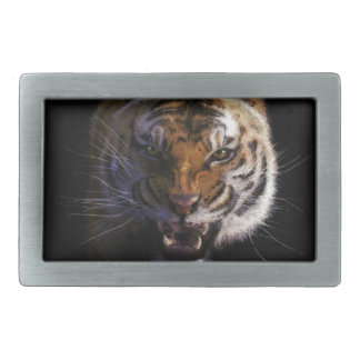 トラの大きな猫の野性生物のギフト 長方形ベルトバックル