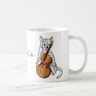 トラの子猫のミュージシャンが演奏するチェロ コーヒーマグカップ