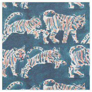 トラの急襲のBohoのシックなサファリの水彩画パターン ファブリック