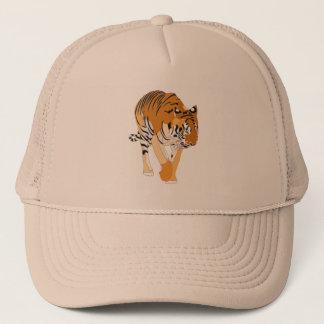 トラの歩くデジタル絵画の帽子 キャップ