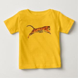 トラの跳躍 ベビーTシャツ